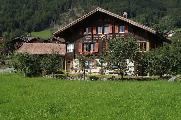 Schönes Oberländer Holzchalet - Brienzwiler - Huis