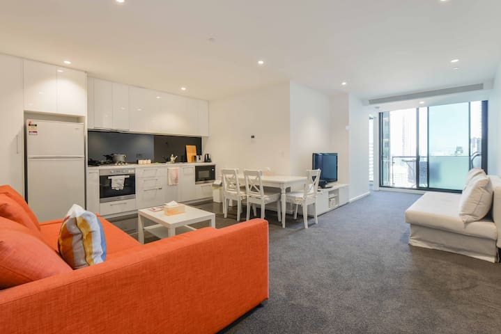 Amazing View in CBD, Large apt 5 beds with parking - Melbourne - Leilighet