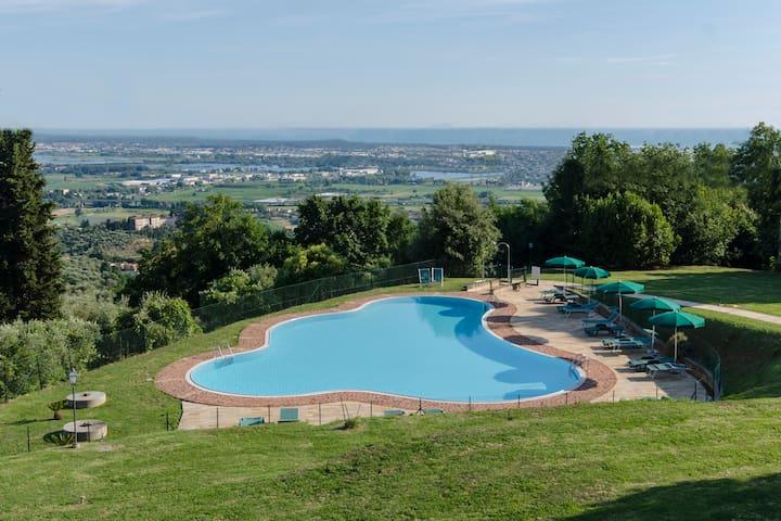 Frantoio di Corsanico - Apt with shared pool - Corsanico - Leilighet