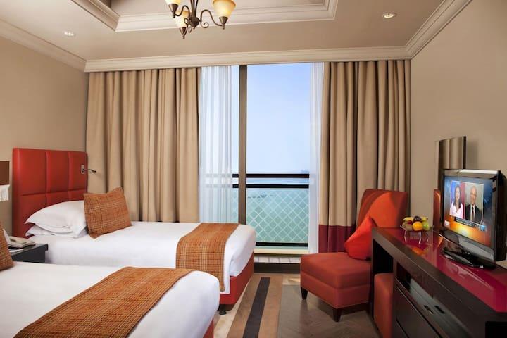 Gorgeous 21st Flr Apt, Twin Room, Private Balcony - Dubai - Departamento