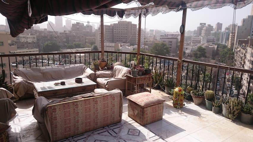 Cozy room in the best rooftop - Cairo