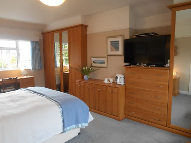 Lovely, light ensuite in Reigate, Gatwick 10 mins. - Reigate - Rumah