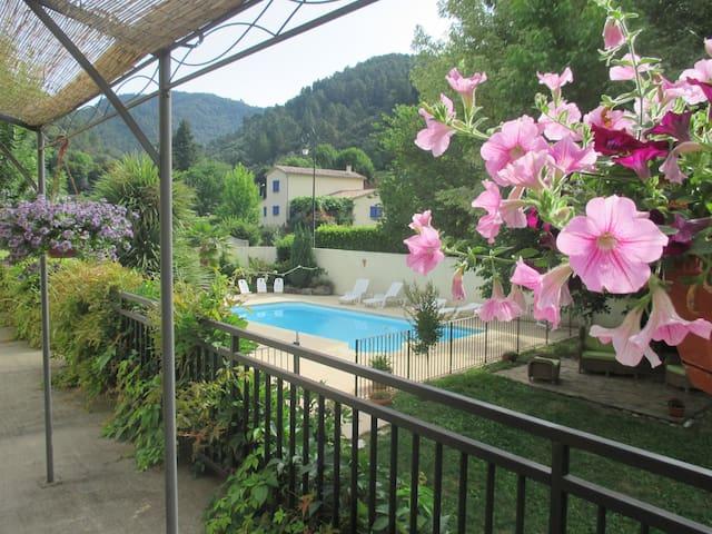 """Gîte """"Châtaigne"""" en Cévennes- piscine (en saison) - L'Estréchure - 公寓"""