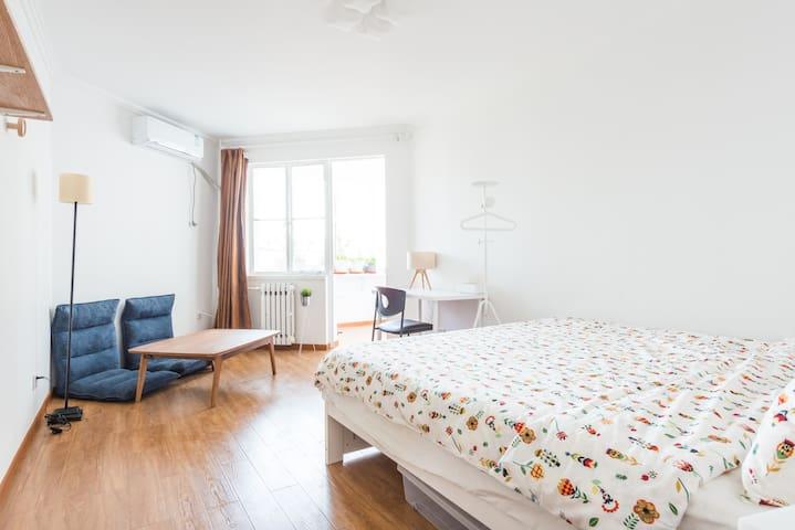 【温馨小白屋】阳台舒适二居室,靠近北京西客站/军博地铁站的家 - Pekin - Apartament