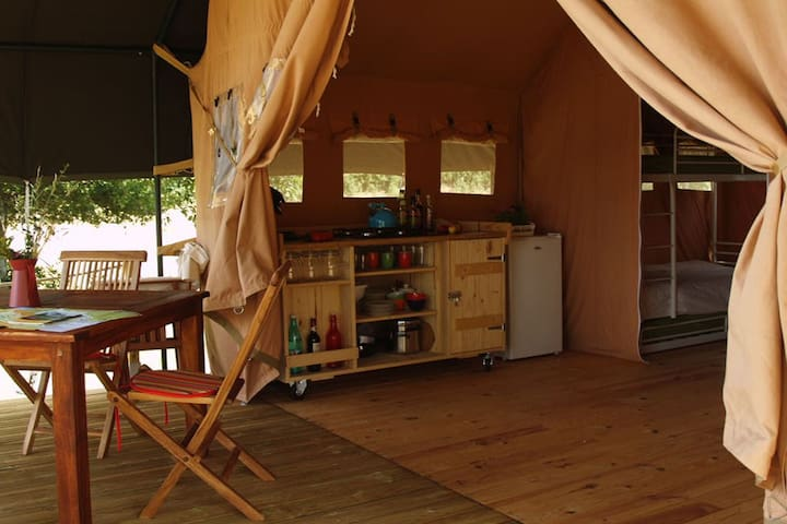 Luxe safaritent - Dun-le-Palestel - 帳篷