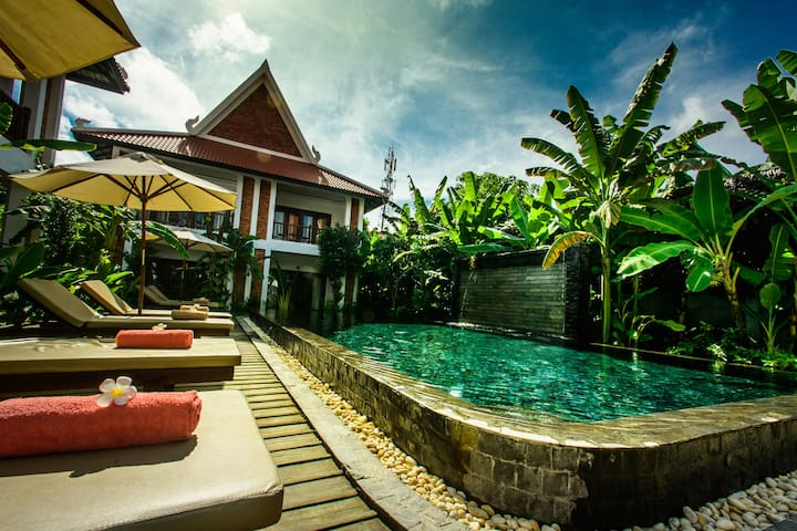 Deluxe Double with Pool View : Chez Moi Residence - Krong Siem Reap - Aamiaismajoitus