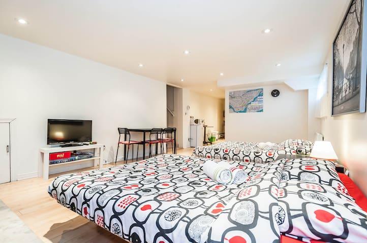 Comfortable spacious studio for 1-6 - Montreal - Bangalô