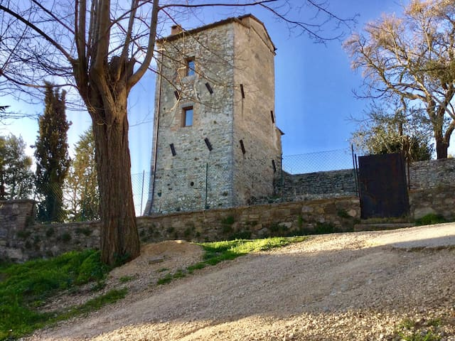 Antica torre in Toscana - San Casciano dei Bagni - Rumah