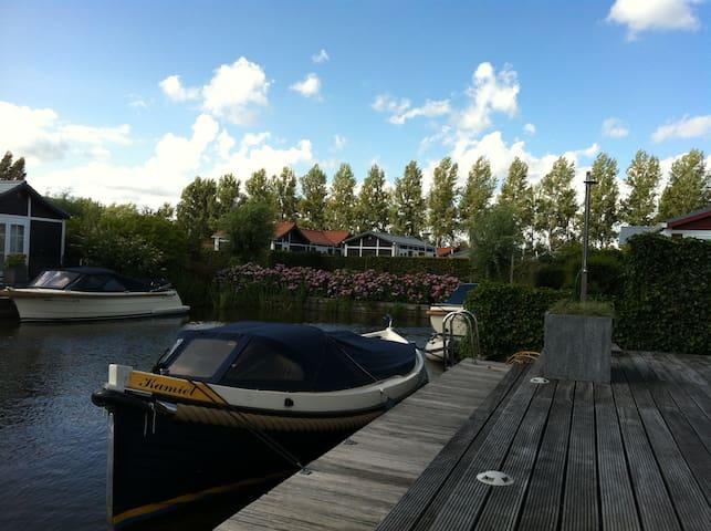 Luxe chalet direct aan het water - Loenen aan de Vecht - Chalé