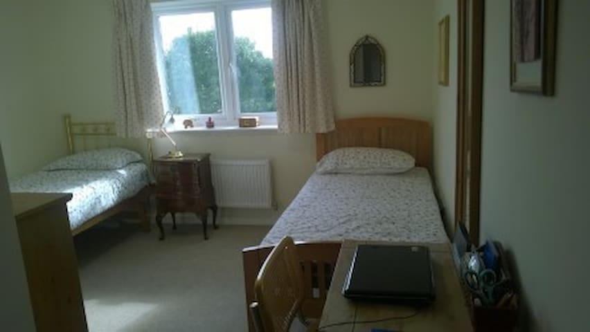 doble bright confortable room in modernn flat - Hersham - Leilighet