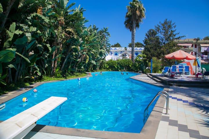 Villa Luisa, piscina e ampio parco - Sant'Anna di Mascali