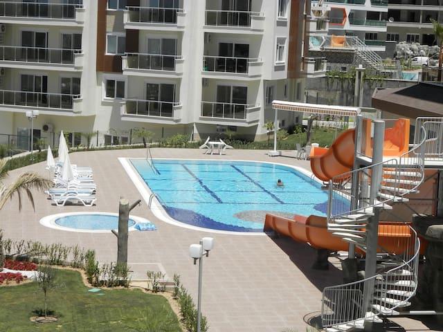 Luxury appartment 1+1 Pool, Tennis, Gym, calm - Avsallar Belediyesi - Appartement