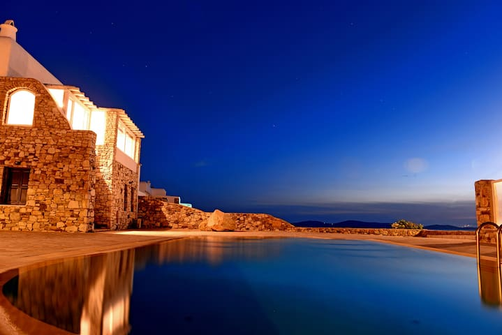 Villa and Guest House Private Pool and Ocean View - Agios Ioannis Diakoftis - Villa