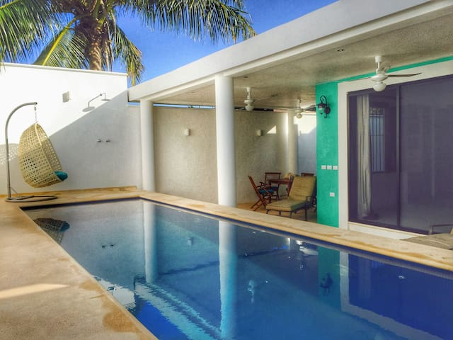 Colonial House with pool & 2 rooftop terraces - Isla Holbox - House