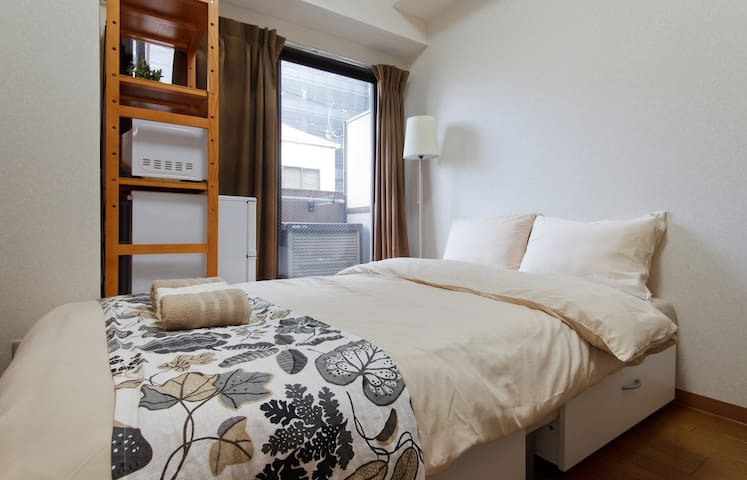 Cozy style/  2mins to station/  up to 3ppl #303 - Abeno Ward, Osaka - Huoneisto