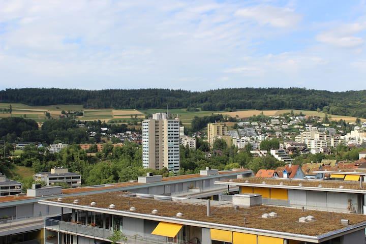 Möblierte 1.5 Zimmer Wohnung mit schöner Aussicht - Baden - Appartamento