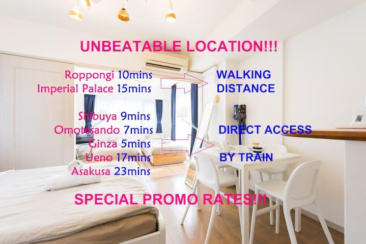 Cozy Urban Apt A @ Best Price&Place - Minato-ku - Wohnung