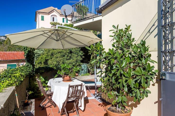 Maisonette overlooking the sea - Genua - Appartement