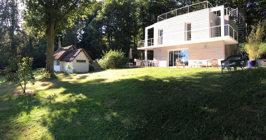 Maison d'architecte en pleine nature/ 4 chambres - Hermeray - Huis