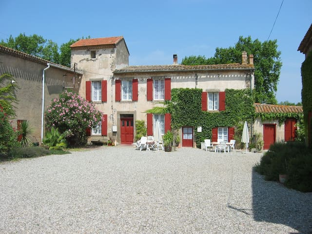 Beautiful gite with pool in ancient wine domaine - Douzens - Hus