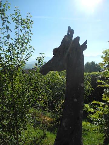 La neige est là! Chalet la girafe - Bonne - Hytte (i sveitsisk stil)