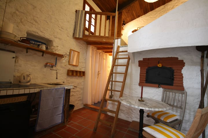 bakery (fournil) set in a cosy, natural stone cour - Montauriol - Pension
