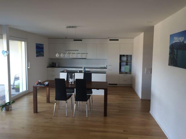 Neue 3.5 Zimmerwohnung mit Gartensitzplatz - Thunstetten - Apartmen