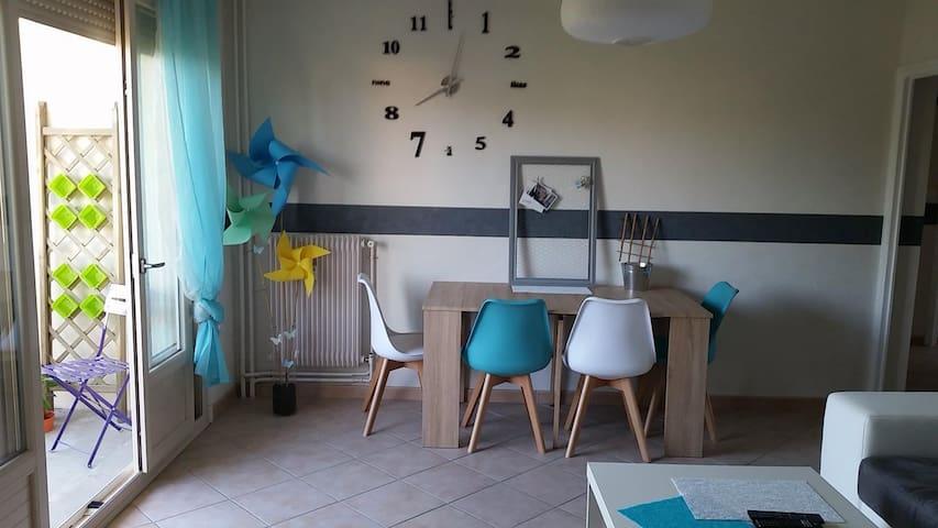 Appartement 60m2 calme et proche de la ville - Roanne - Lägenhet