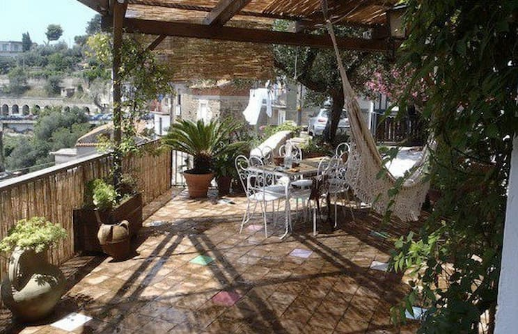 ULIVO panoramico con terrazzo - Pollica - Apartamento
