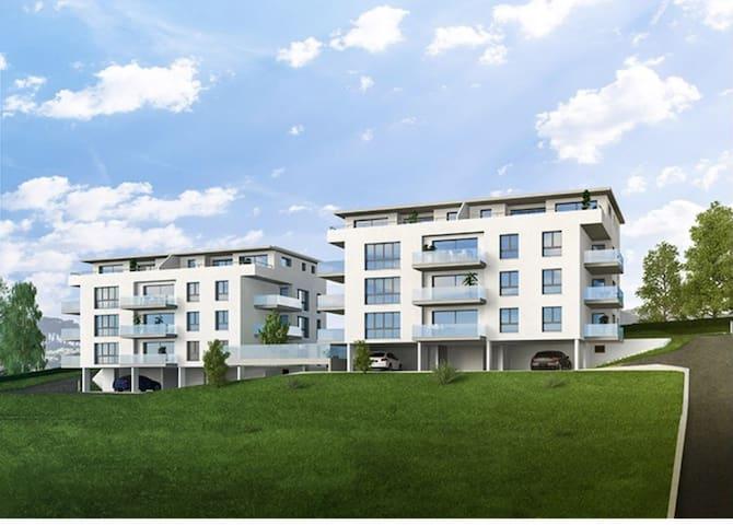 Beautiful 66m2 apartment, max 4 adults and 2 kids - Châtel-Saint-Denis - Lakás