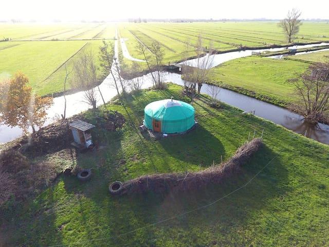 Back to nature, yurt life. Rent a tent! - Wijngaarden