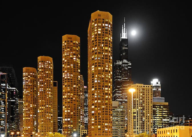 Sightseeing Studio with Super-equipped Facilities - Chicago - Pis