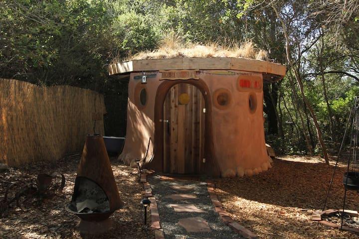 A Grass-Roofed Earthen Hobbit Hut - Geyserville - Dům v zemi
