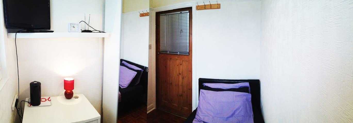 Sunny single room + guest bathroom - Londra