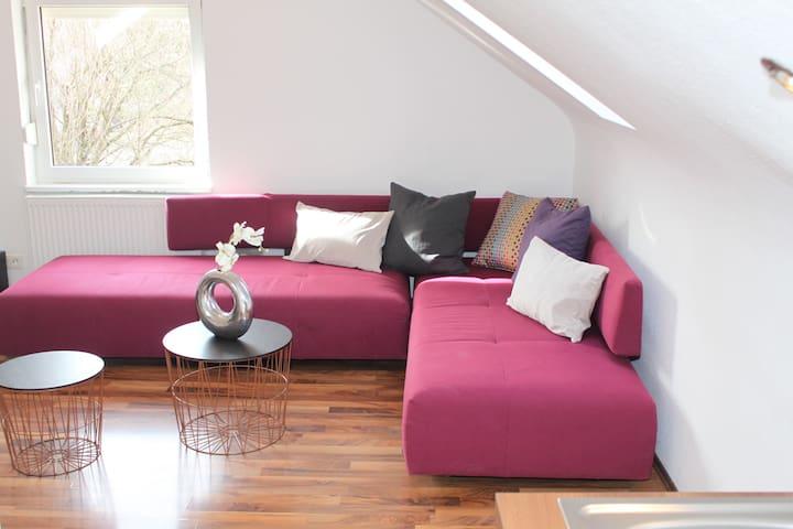 Schöne 60qm,2 Zimmer DG-Wohnung,tolle Ausstattung! - Kirchheim unter Teck - Leilighet