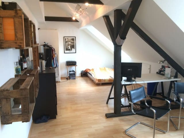 Comfortable 26 qm room with hammock coffeemachine - Witten