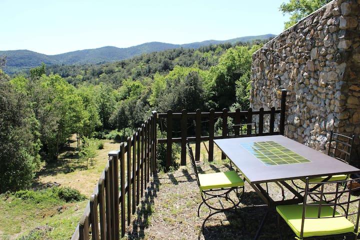 Gite  WIFI jolie vue jardin Aude Pays Cathare - Laroque-de-Fa - Casa