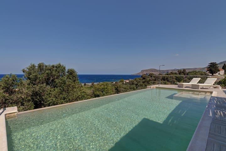Amazing stone villa with sea view - Kissamos - Villa