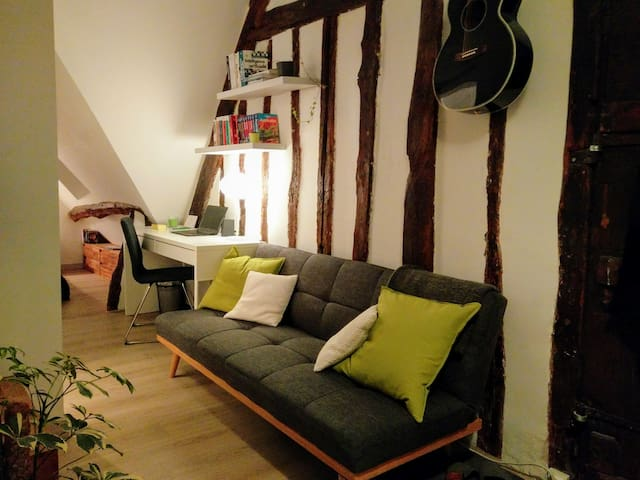 Rustic studio in historical city center - Vernon - Apartemen