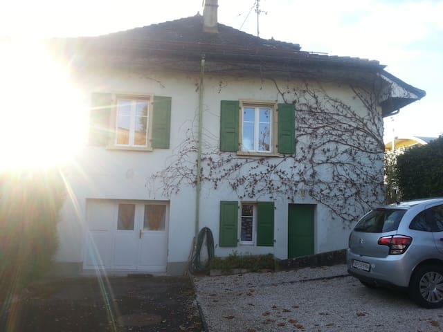 Huge Flat with big garden, central - Rolle - Casa