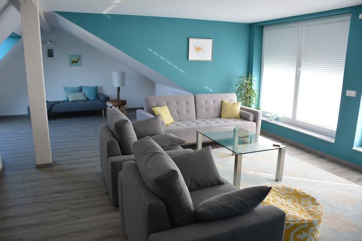 Schöne, moderne und helle Wohnung in Seenähe - 腓特烈港(Friedrichshafen) - 公寓