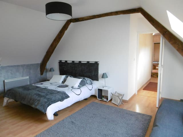 Chambre d'hôtes au calme (possibilité 4 personnes) - Vacognes-Neuilly - Casa de huéspedes