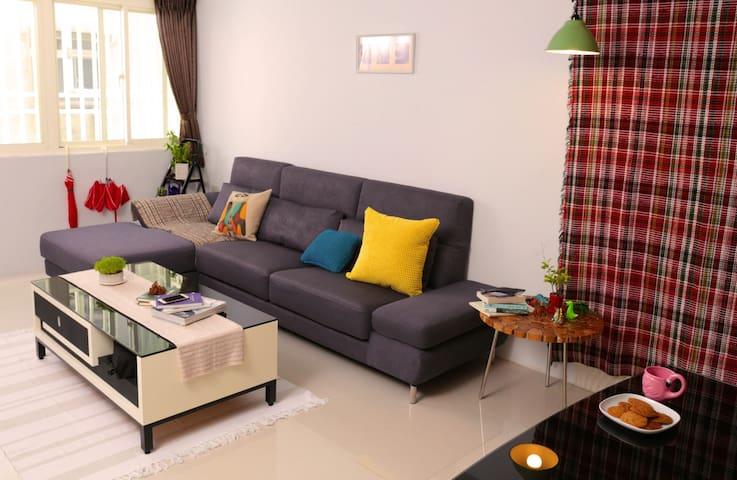 【RONG PLACE】comfy apt : suite $1500+ big sofa $300 - Distretto di Songshan - Appartamento