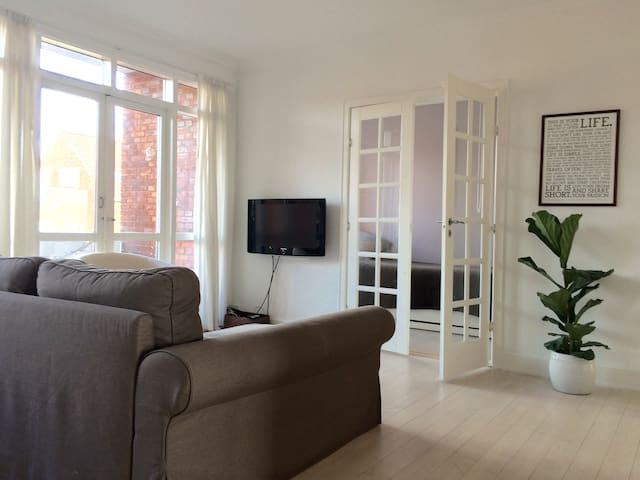 Spacious apartment in beautiful Cph suburbs - Charlottenlund - Daire