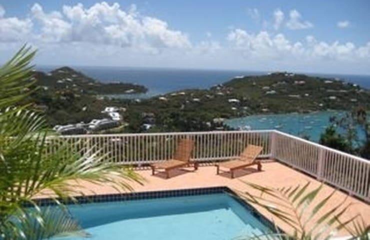 Windcrest Loft Villa ~ A+ View - Cruz Bay
