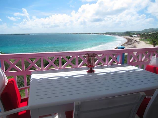 Beachfront oceanview Antigua studio - Orient Bay - Leilighet
