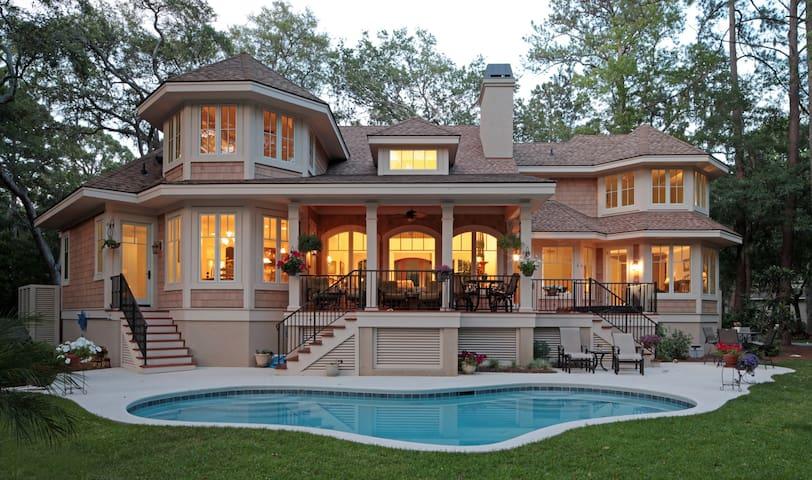 Beautiful Sea Pines Home with Lagoon and Golf View - Hilton Head Island - Hus