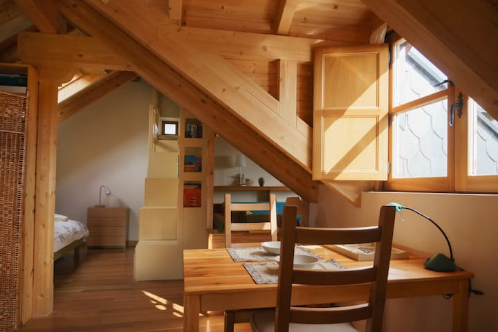 Gran sala /spacious room en casa rural. - Bembibre - Mökki
