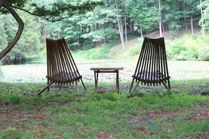 Spruce Run Deer Cottage - Woodbury - Leilighet