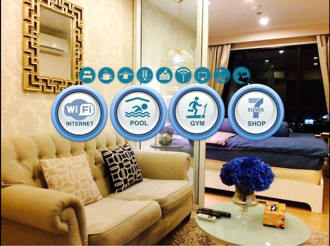 LUXURY LIVING-Pool,Gym,Wifi-near Airport & Impact - Pak Kret